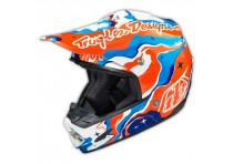 TLD SE3 HELMET GALAXY BLUE / ORANGE
