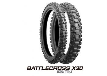LLANTA BRIDGESTONE BATTLECROSS X30F 90/100-21 DELANTERA IT - HT